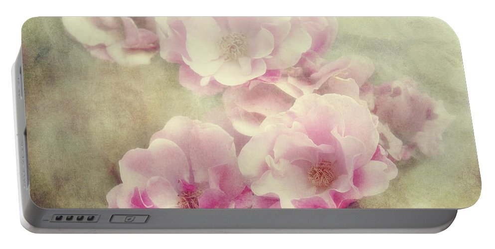 Roses Portable Battery Charger featuring the photograph Summer Romance by Claudia Moeckel
