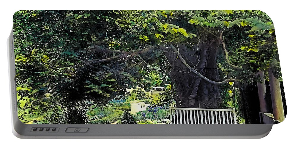 Tranquil Portable Battery Charger featuring the painting Summer Shade 4 by Terry Reynoldson