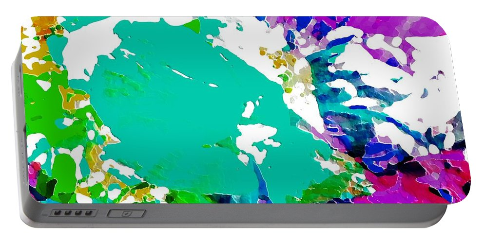 Abstract Portable Battery Charger featuring the photograph Summer Splash by Barbara Moignard
