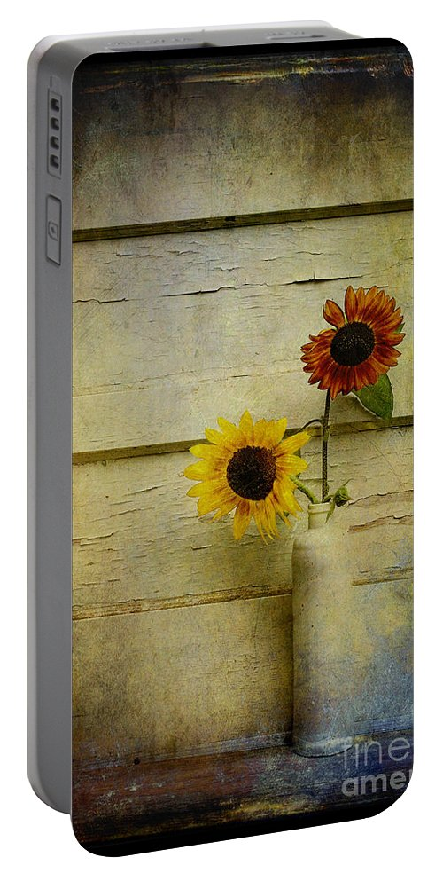 Sunflowers Portable Battery Charger featuring the photograph Summer Sunflowers by Sari Sauls