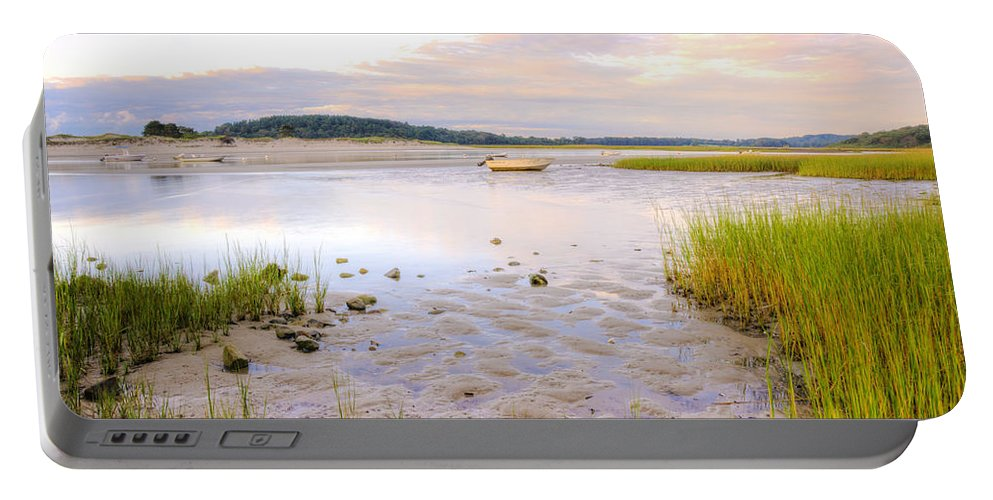 Sunrise Portable Battery Charger featuring the photograph Summer Sunrise At Little Neck by David Stone