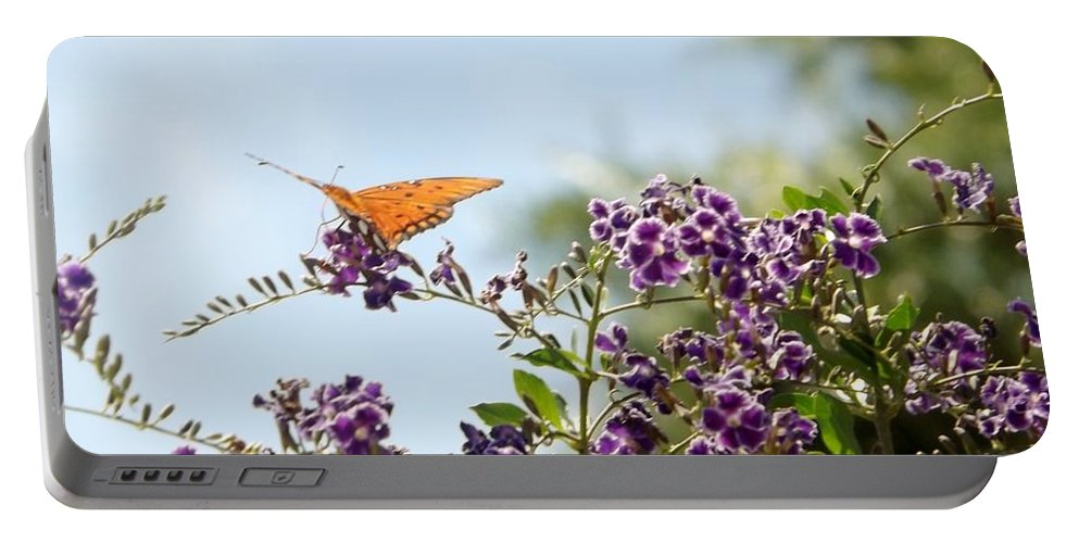 Butterfly Portable Battery Charger featuring the photograph Summer's Day by Linda Kerkau