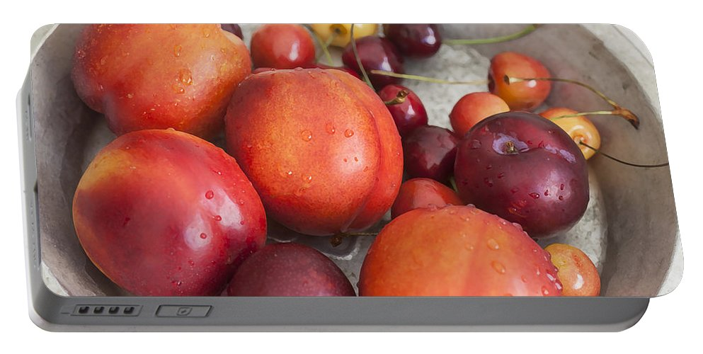 Fresh Fruit Portable Battery Charger featuring the photograph Summers Harvest by Rich Franco