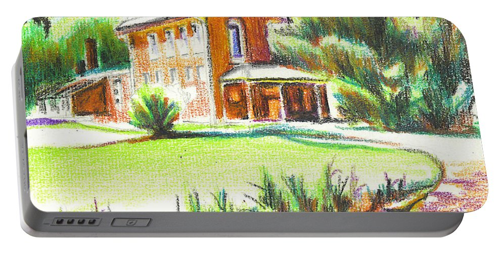 Summertime At Ursuline No C101 Portable Battery Charger featuring the painting Summertime At Ursuline No C101 by Kip DeVore