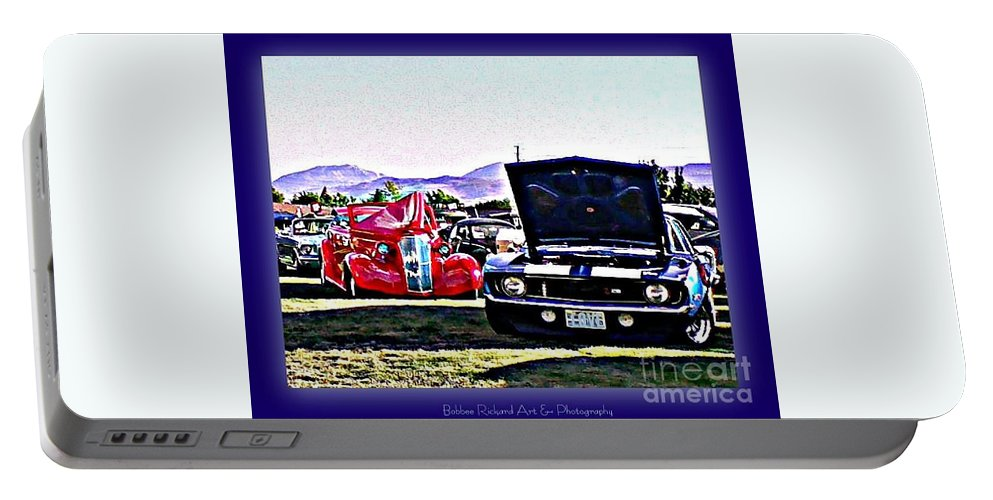 Classic Cars Portable Battery Charger featuring the photograph Summertime Class Car Show by Bobbee Rickard
