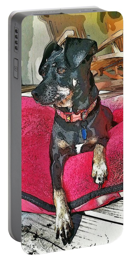Dog Portable Battery Charger featuring the photograph Sun Day by John Duplantis