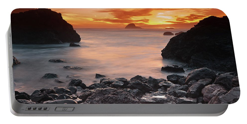 California Northcoast Portable Battery Charger featuring the photograph Sun Descends On Northcoast by Greg Nyquist