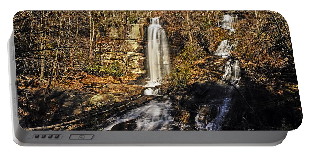 Travel Portable Battery Charger featuring the photograph Sun On The Falls by Elvis Vaughn