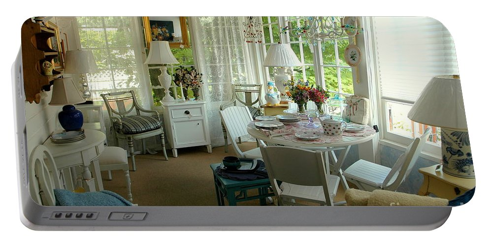 Sun Portable Battery Charger featuring the photograph Sun Room by Kathleen Struckle