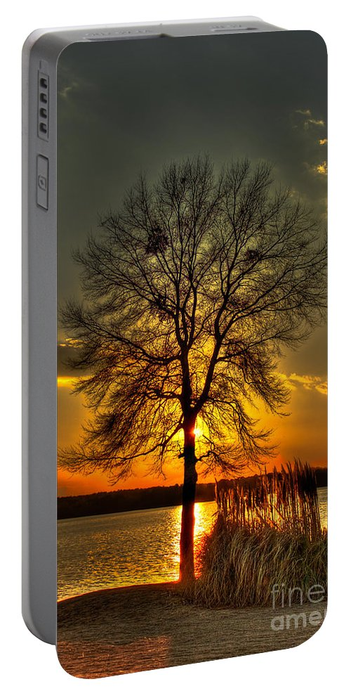 Sunset Landscape Portable Battery Charger featuring the photograph Sunblock A Sunset On Lake Oconee by Reid Callaway