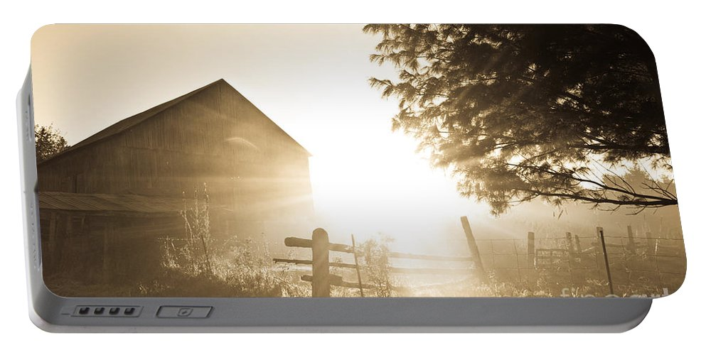 Portable Battery Charger featuring the photograph Sunburst On The Farm by Cheryl Baxter