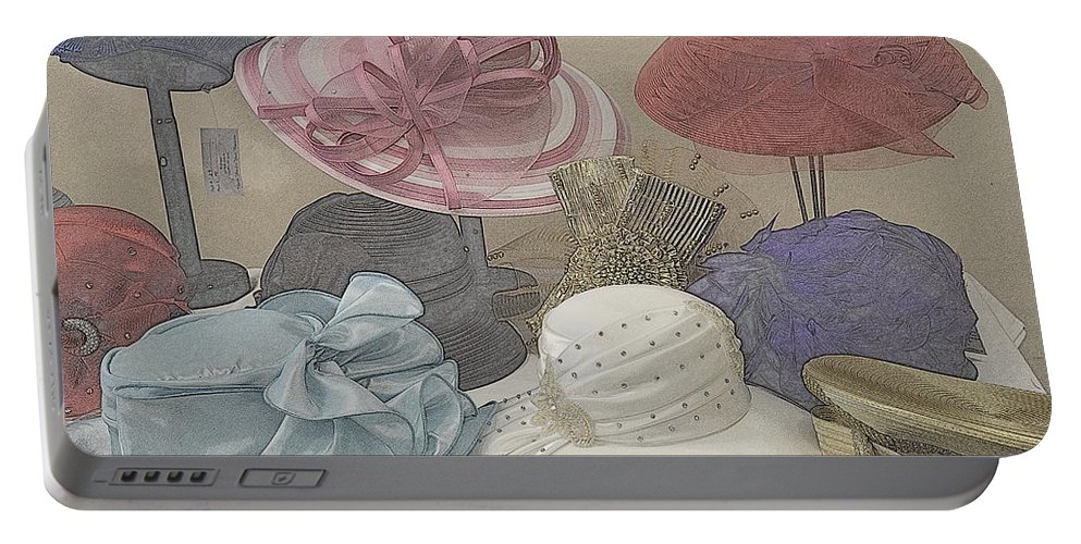 Hats Portable Battery Charger featuring the photograph Sunday Hats For Sale by Kathy Barney