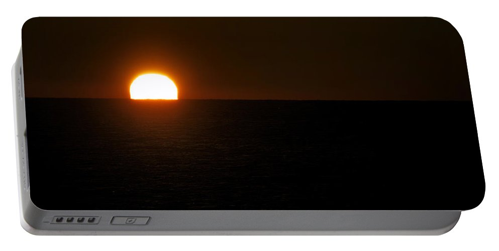 Lake Michigan Portable Battery Charger featuring the photograph Sundown Gleaming by Thomas Woolworth