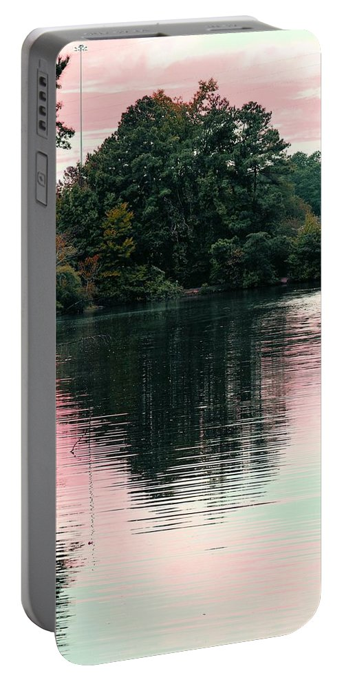 Sundown Portable Battery Charger featuring the photograph Sundown Just This Side Of The City by Maria Urso