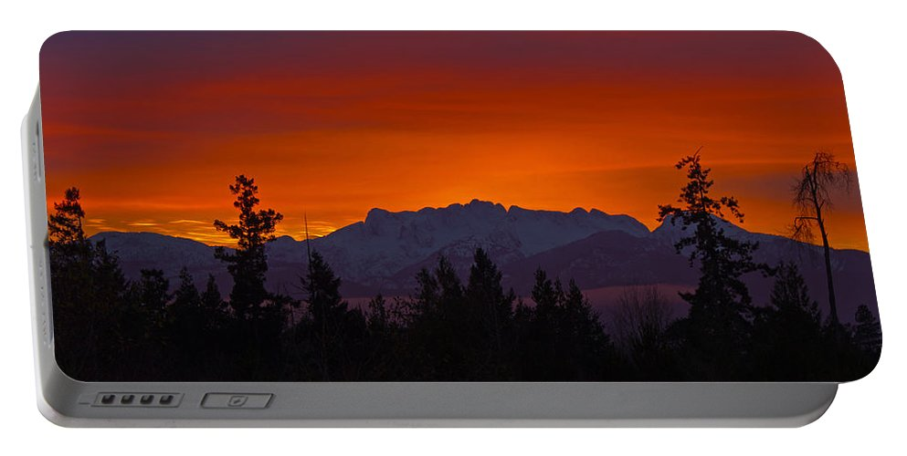 Mountains Portable Battery Charger featuring the photograph Sundown by Randy Hall