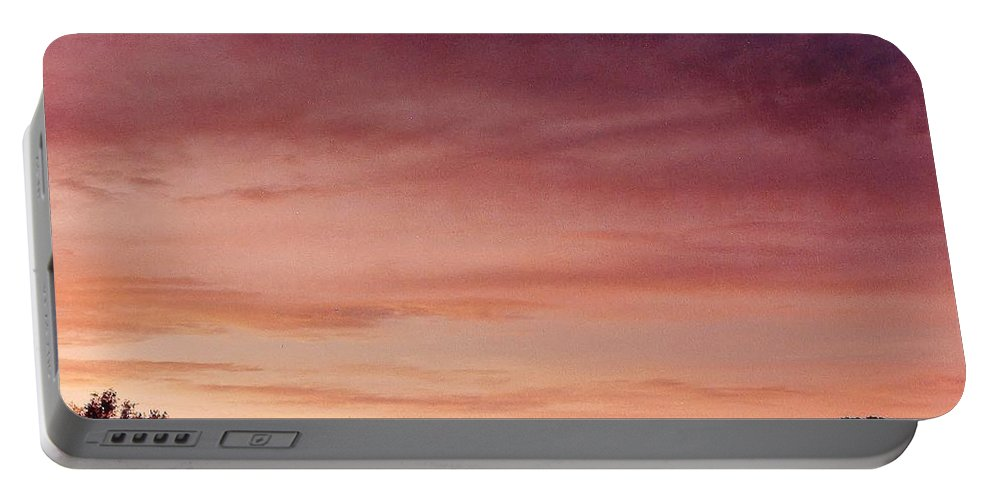 Sunset Portable Battery Charger featuring the photograph Sunet At Home by D Hackett