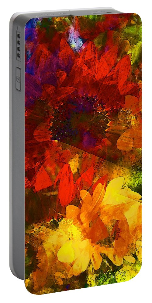 Floral Portable Battery Charger featuring the photograph Sunflower 11 by Pamela Cooper