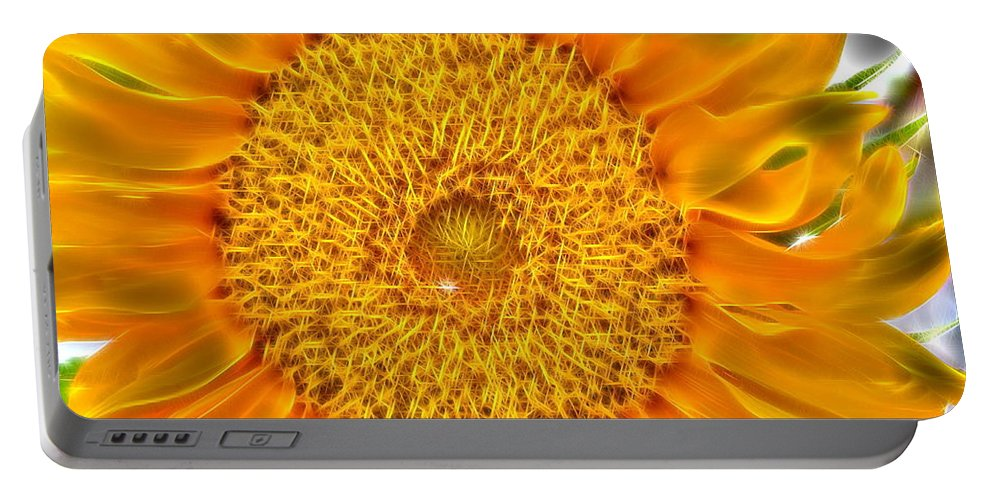Sunflower Portable Battery Charger featuring the digital art Sunflower 5 by April Patterson