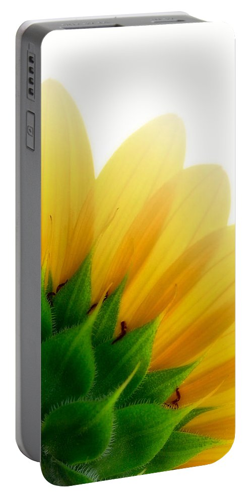 Close Up Portable Battery Charger featuring the photograph Sunflower Backside by David and Carol Kelly