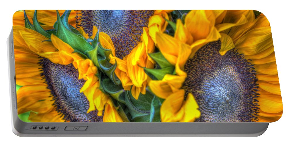 Portable Battery Charger featuring the photograph Sunflower Delight by Heidi Smith