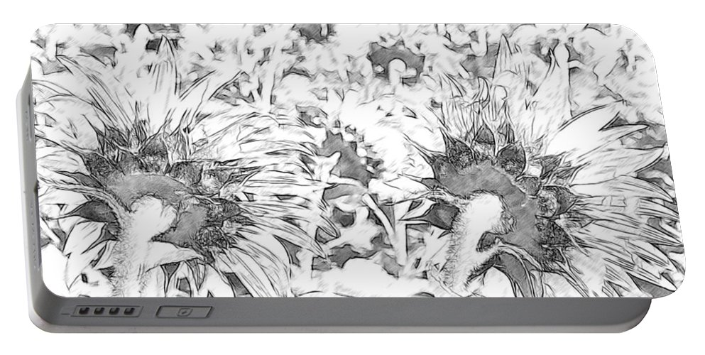 Sunflowers Portable Battery Charger featuring the photograph Sunflower Drawing by Alice Gipson
