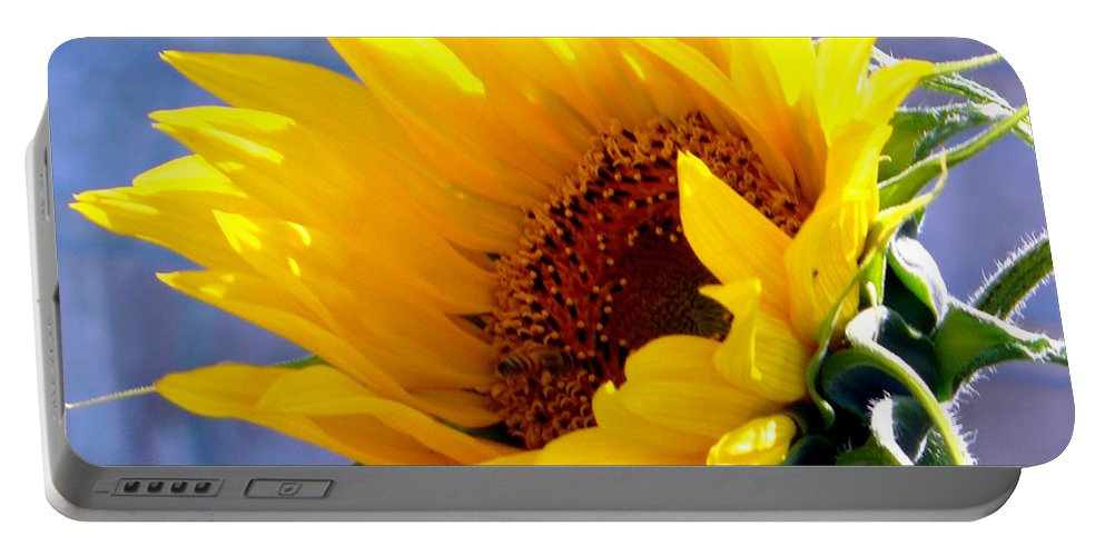 Sunflower Portable Battery Charger featuring the photograph Sunflower by Katy Hawk