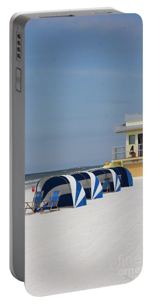 Beach Portable Battery Charger featuring the photograph Sunnyday At Clearwater Beach by Christiane Schulze Art And Photography