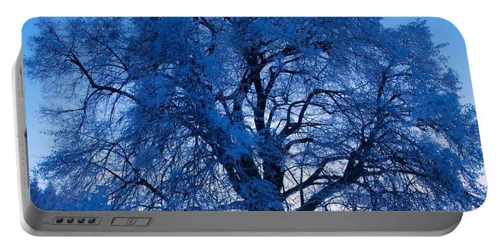 Tree Portable Battery Charger featuring the photograph Sunrise And Tree by Roman Aj