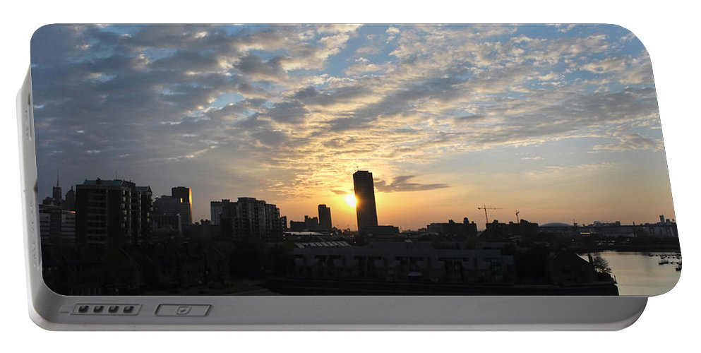 Sunrise Portable Battery Charger featuring the photograph Sunrise Arise Buffalo Ny V1 by Michael Frank Jr