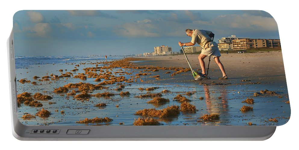 Cocoa Beach Portable Battery Charger featuring the photograph Sunrise At Cocoa Beach by Nikolyn McDonald