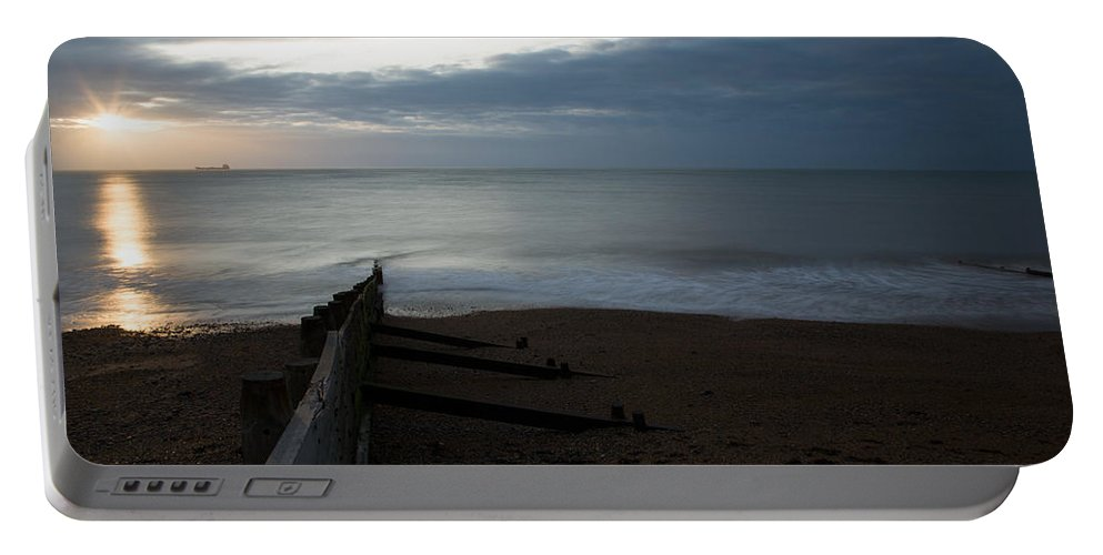 Kingsdown Portable Battery Charger featuring the photograph Sunrise At Kingsdown by Ian Middleton