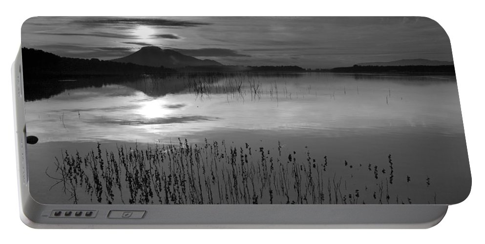 Horizontal Portable Battery Charger featuring the photograph Sunrise At The Lake by Guido Montanes Castillo