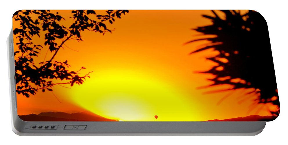 Sunrise Portable Battery Charger featuring the photograph Sunrise Glow by Christine Owens