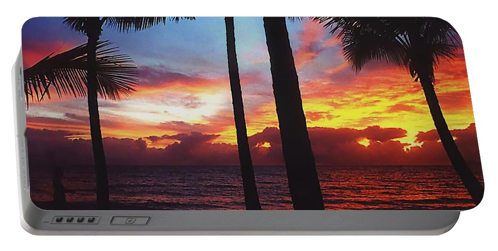 Sunrise In Queensland Portable Battery Charger featuring the photograph Sunrise In Queensland 1 by Ellen Henneke