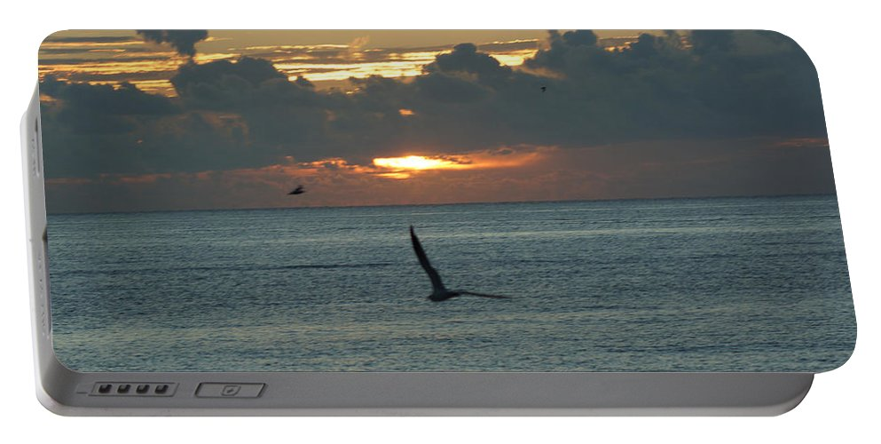 Sunrise Portable Battery Charger featuring the photograph Sunrise In The Florida Riviera by Rafael Salazar