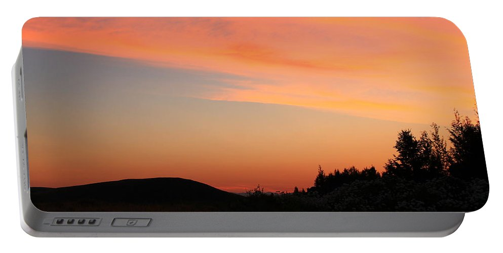 Jackson Hole Portable Battery Charger featuring the photograph Sunrise In Wyoming by Catie Canetti
