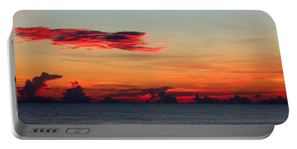Sunrise Portable Battery Charger featuring the photograph Sunrise On A Cloudy Morn by Marilyn Holkham
