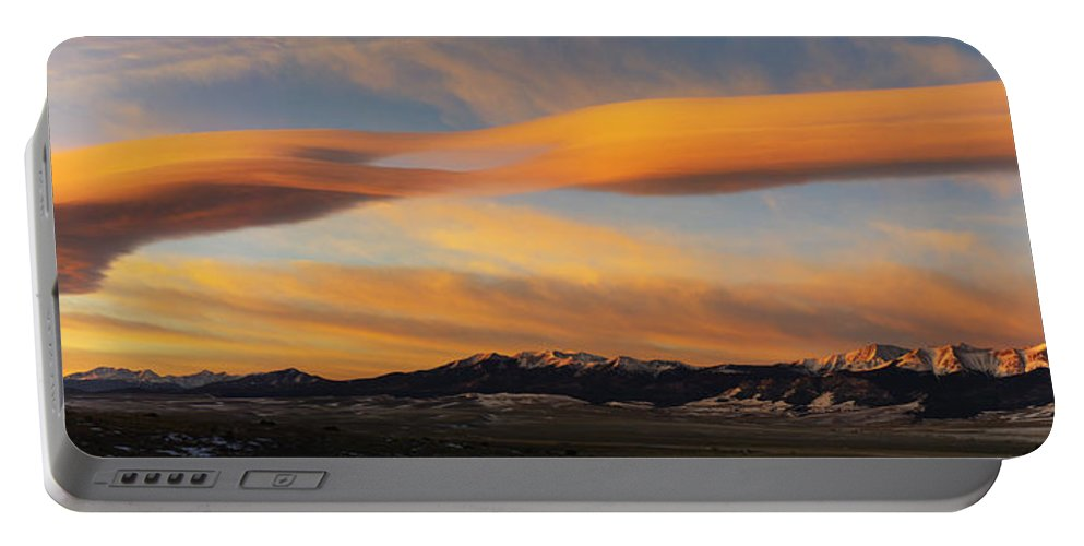 Colorado Photographs Portable Battery Charger featuring the photograph Sunrise On Lenticular Clouds by Gary Benson