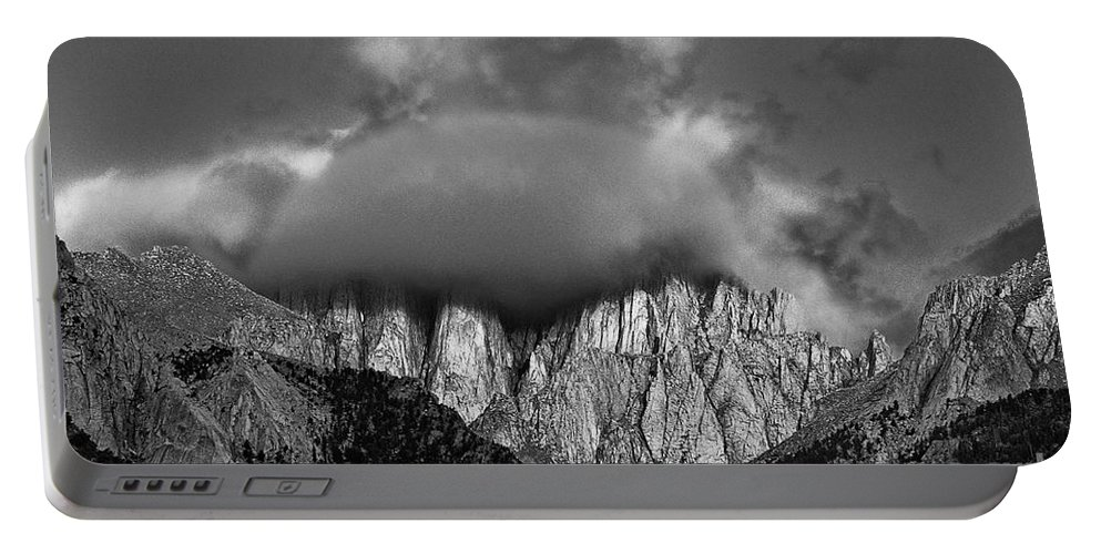 North America Portable Battery Charger featuring the photograph Sunrise On Mount Whitney Eastern Sierras California by Dave Welling