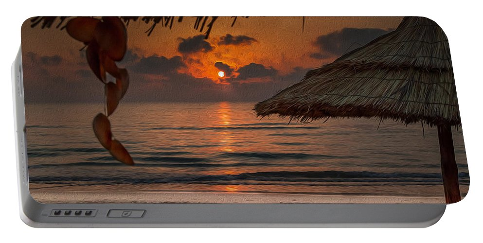 Sunrise Portable Battery Charger featuring the photograph Sunrise On The Beach by Martin Kucera