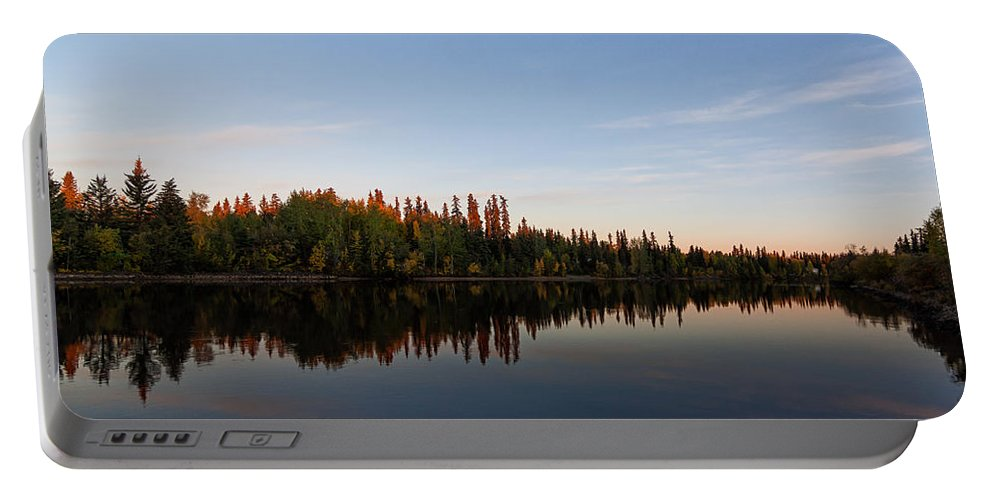 Alaska Portable Battery Charger featuring the photograph Sunrise Over Chena River by Lauri Novak