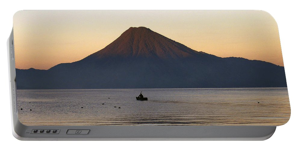 Lake Portable Battery Charger featuring the photograph Sunrise Over Lake Atitlan by Kurt Van Wagner