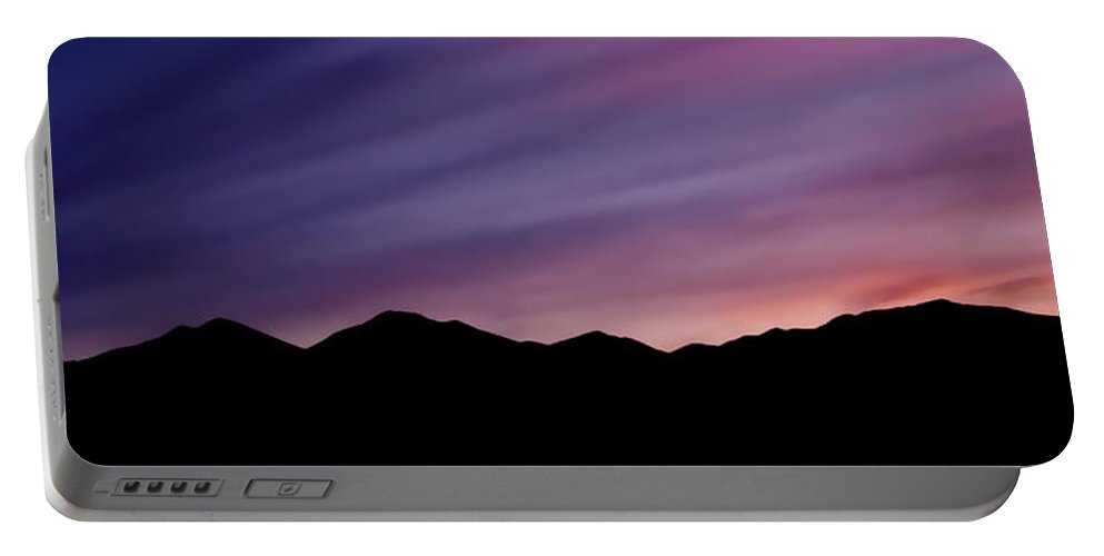 Salt Lake City Portable Battery Charger featuring the photograph Sunrise Over The Mountains by Rona Black