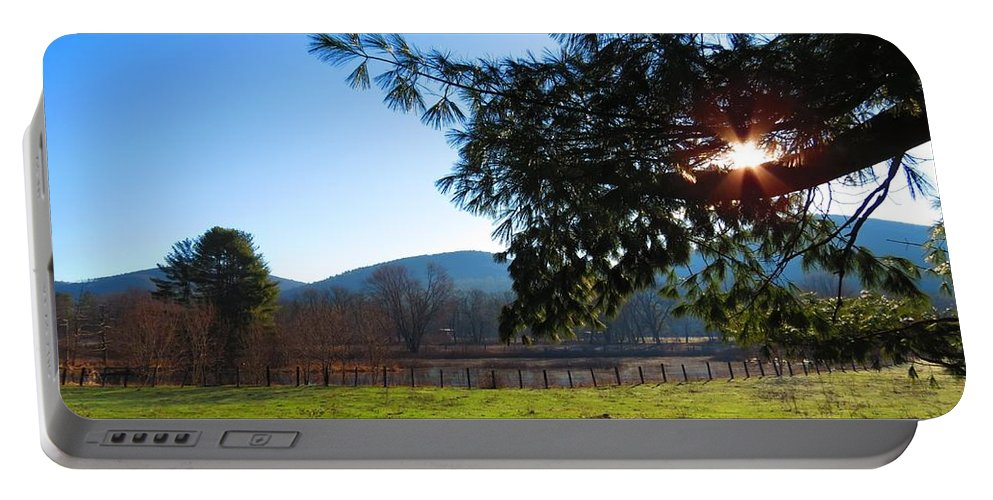 Sunrise Portable Battery Charger featuring the photograph Sunrise Star by MTBobbins Photography