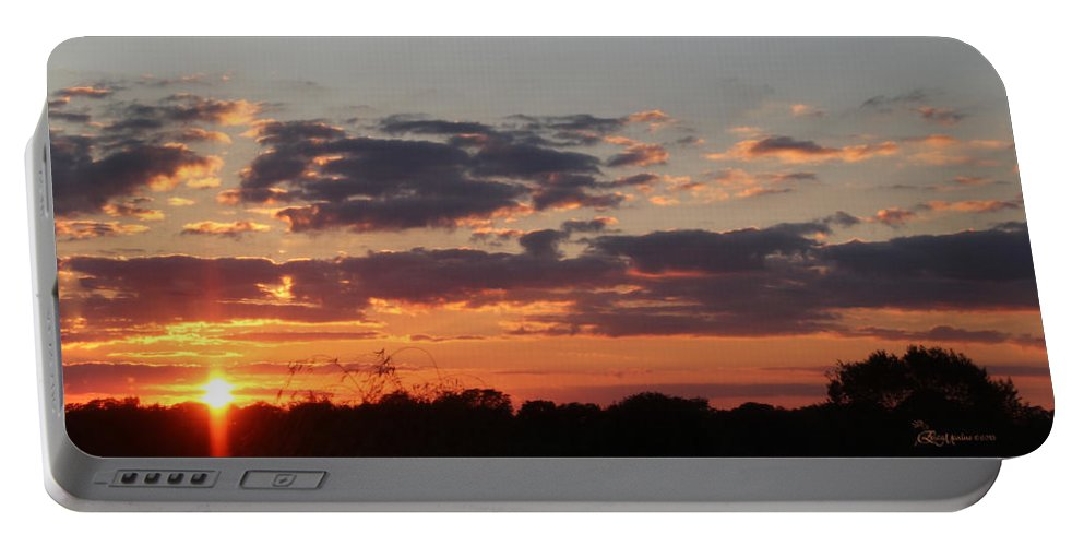 Photo Portable Battery Charger featuring the photograph Sunset -2013-09-21 by Ericamaxine Price