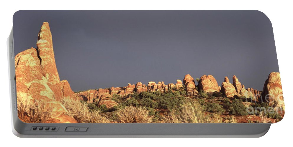 Arches National Park Portable Battery Charger featuring the photograph Sunset Arches National Park by Liz Leyden