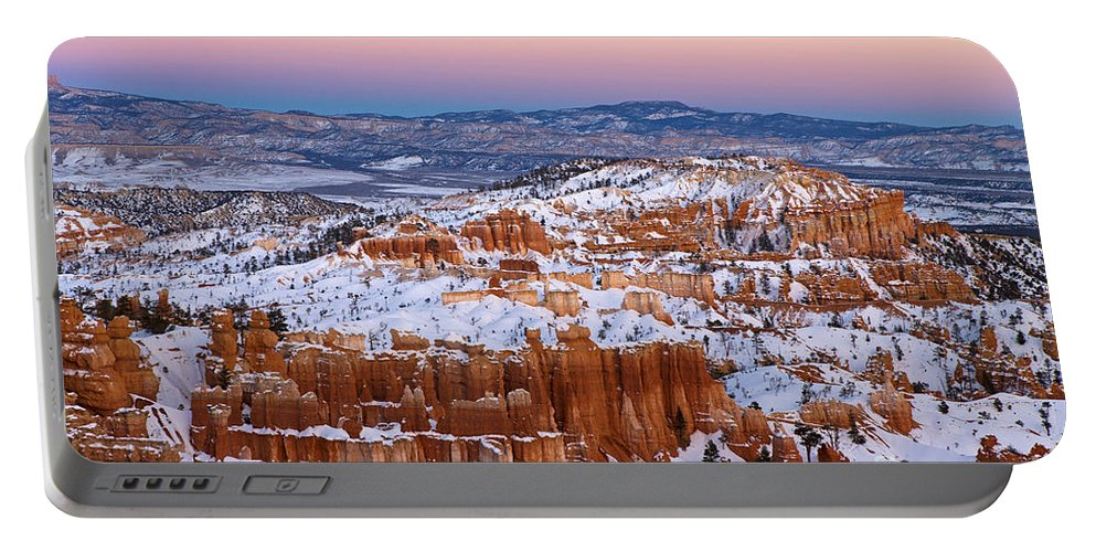 Bryce Canyon Portable Battery Charger featuring the photograph Sunset At Bryce Canyon National Park Utah by Jason O Watson