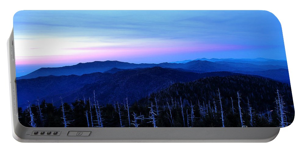Clingman's Dome Portable Battery Charger featuring the photograph Sunset At Clingman's Dome by Nancy Mueller