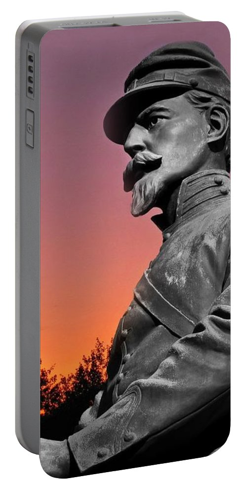 Civil War Portable Battery Charger featuring the photograph Sunset At Gettysburg by David Dehner