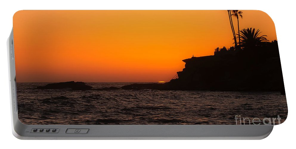 Laguna Beach Portable Battery Charger featuring the photograph Sunset At Laguna Beach by Traci Law